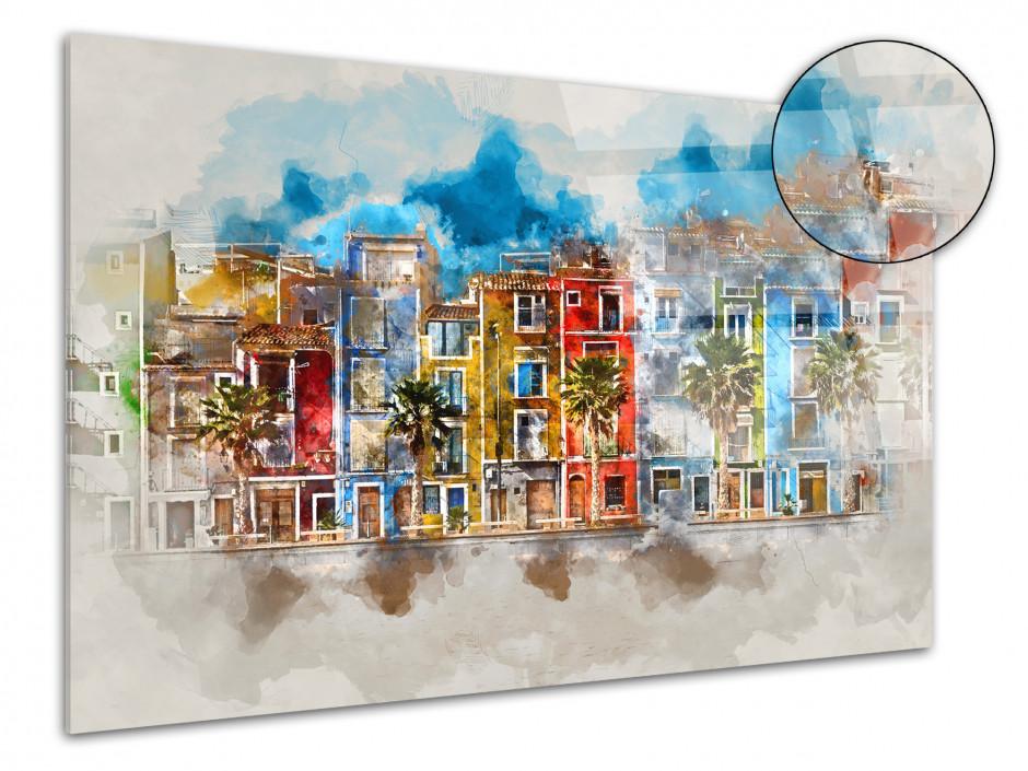 Tableau Plexiglas moderne peinture de ville