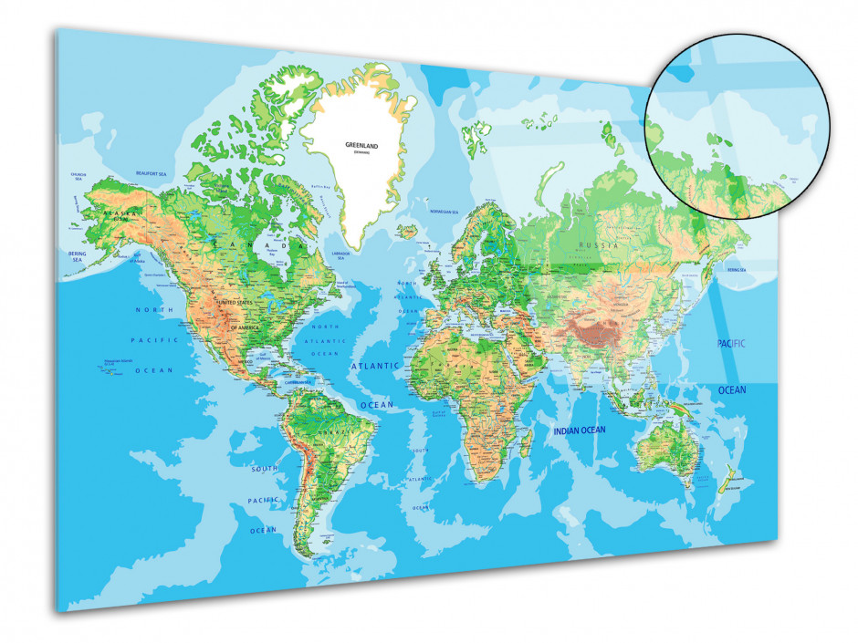 Tableau plexiglas deco Carte du Monde