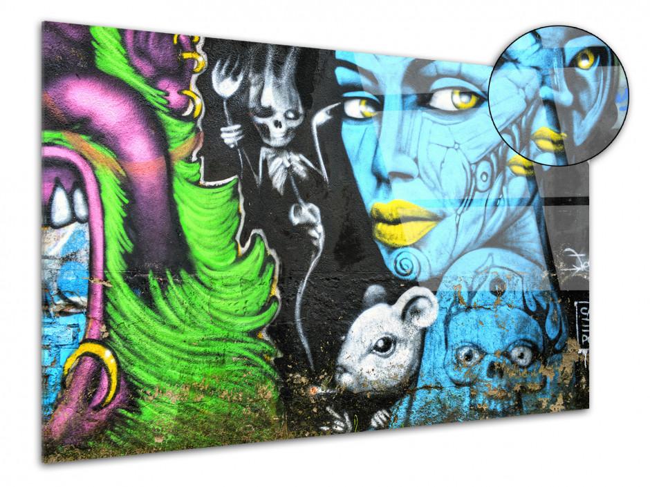 Tableau Plexiglas deco moderne Graffiti
