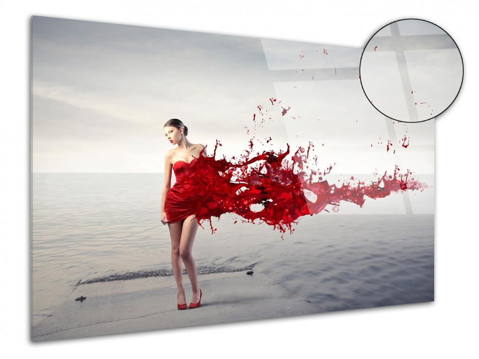 Tableau Plexiglas décoratif moderne éclat de robe