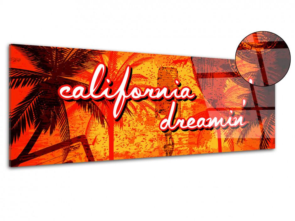 Tableau plexiglas vintage RÊVE CALIFORNIEN