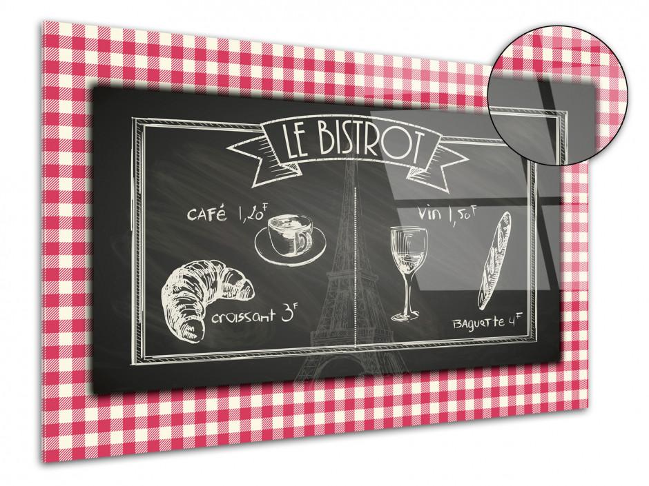 Tableau plexiglas vintage LE BISTROT FRANÇAIS