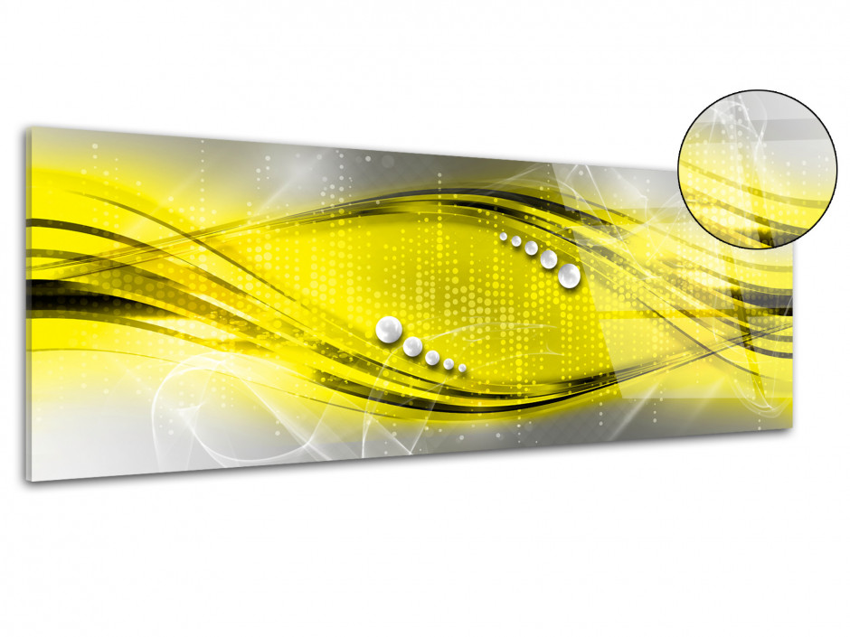 Tableau plexiglas deco abstrait panoramique