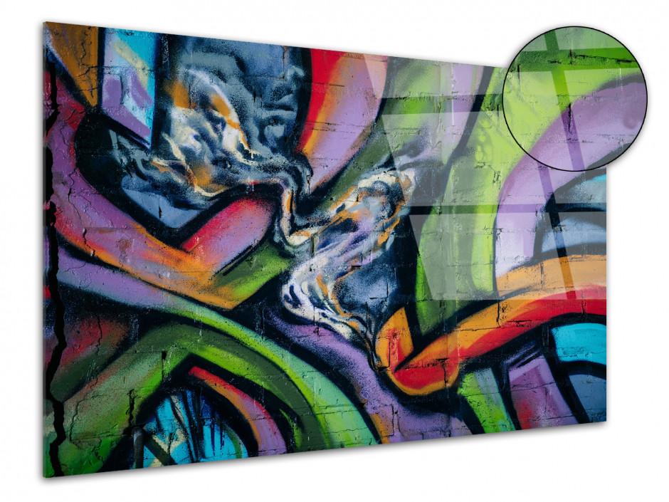 Cadre plexiglas déco abstrait Graffiti
