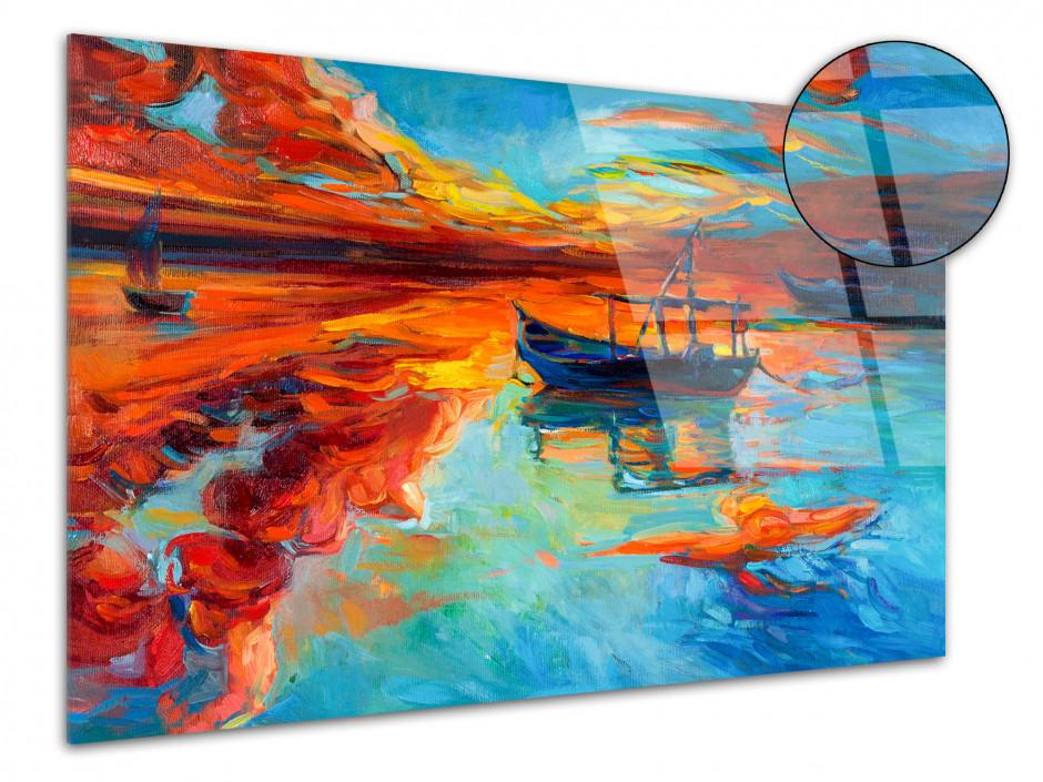 Cadre décoratif plexiglas abstraite Kuma
