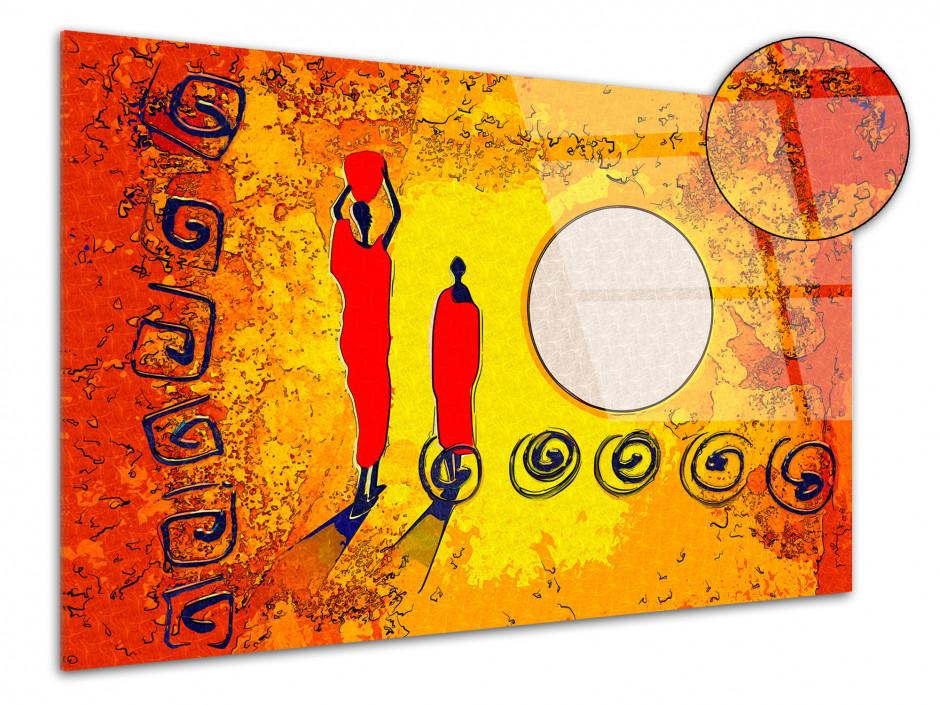 Tableau plexiglas moderne personnages Africains