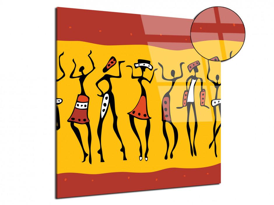 Tableau plexiglas moderne couleurs d'afrique