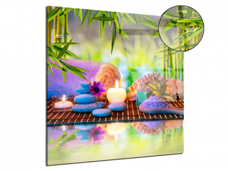 Tableau plexiglas zen design Spa
