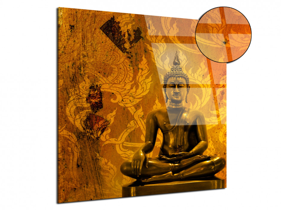 Tableau plexiglas deco design zen Bouddha