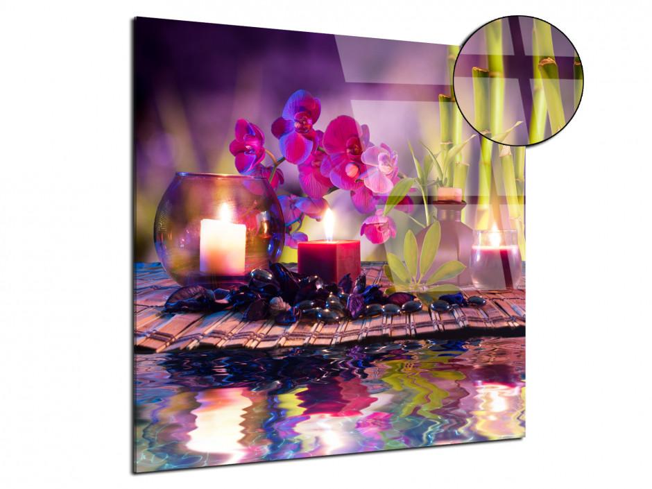 Cadre plexiglas déco murale Zen ambiance Spa