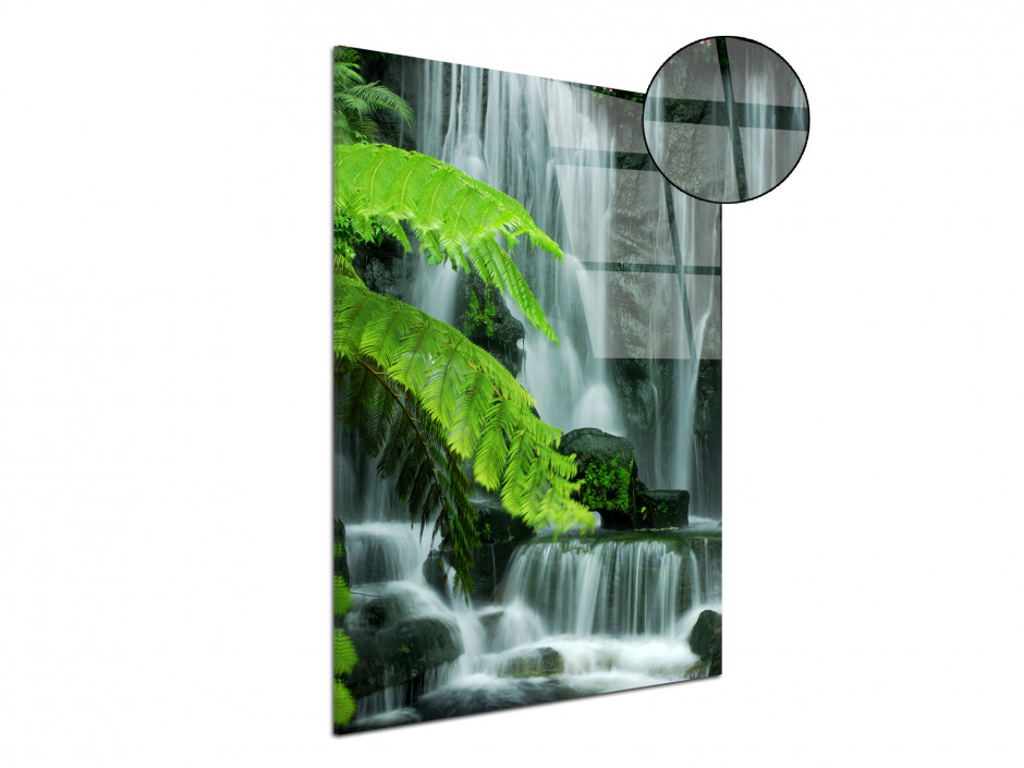 Tableau plexiglas deco zen chutes d'eau