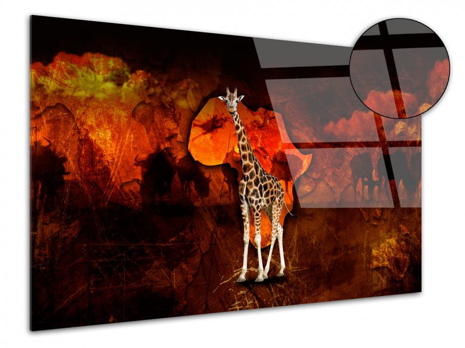 Tableau Plexiglas deco plexiglas La Girafe