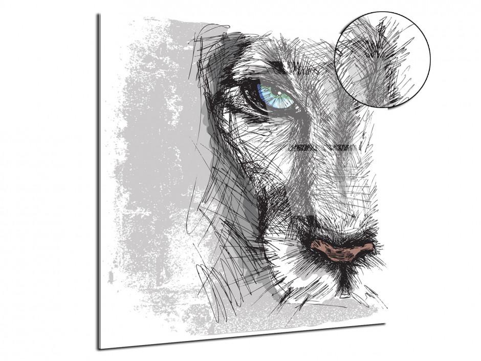 Tableau plexiglas deco design Lion