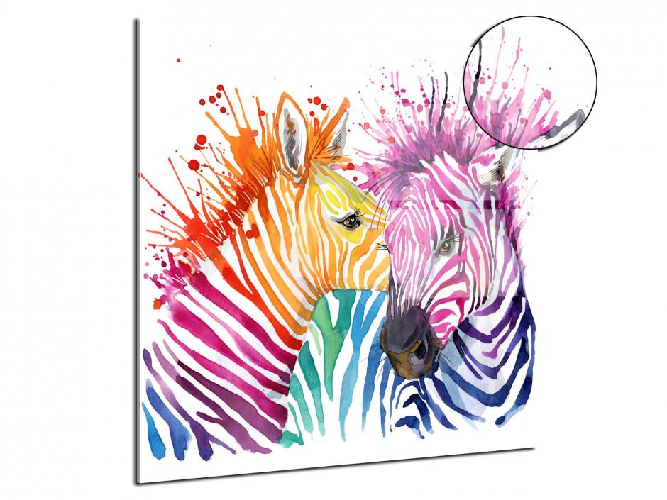 Tableau plexiglas home design Les Zèbres