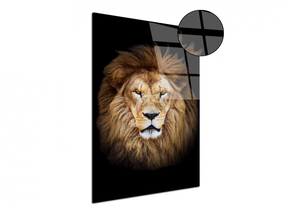 Tableau plexiglas unique Le Roi LION