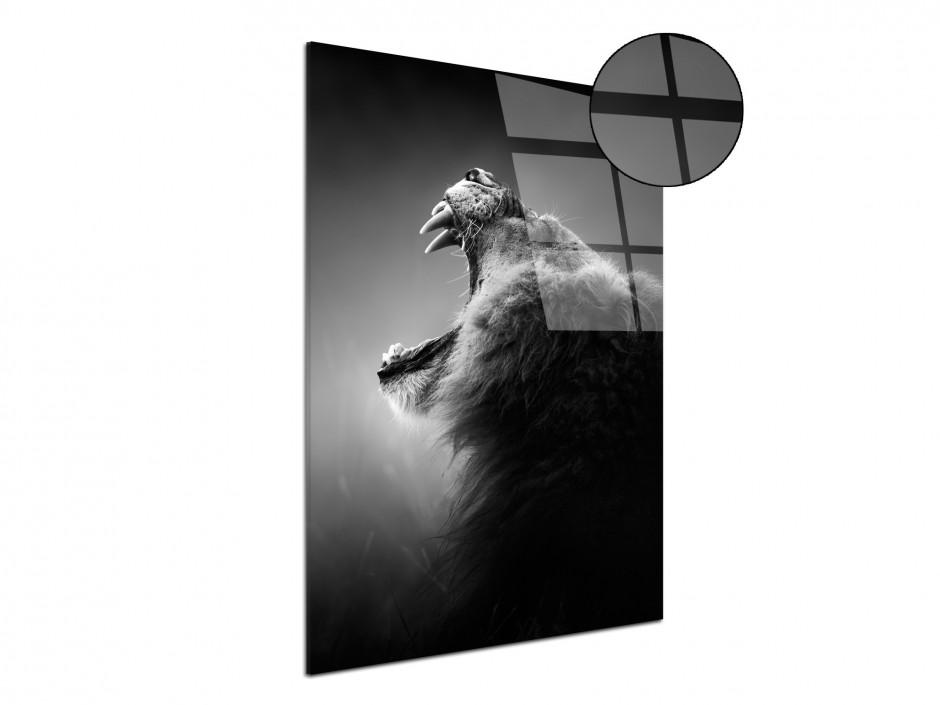 Tableau plexiglas déco moderne rugissement du lion