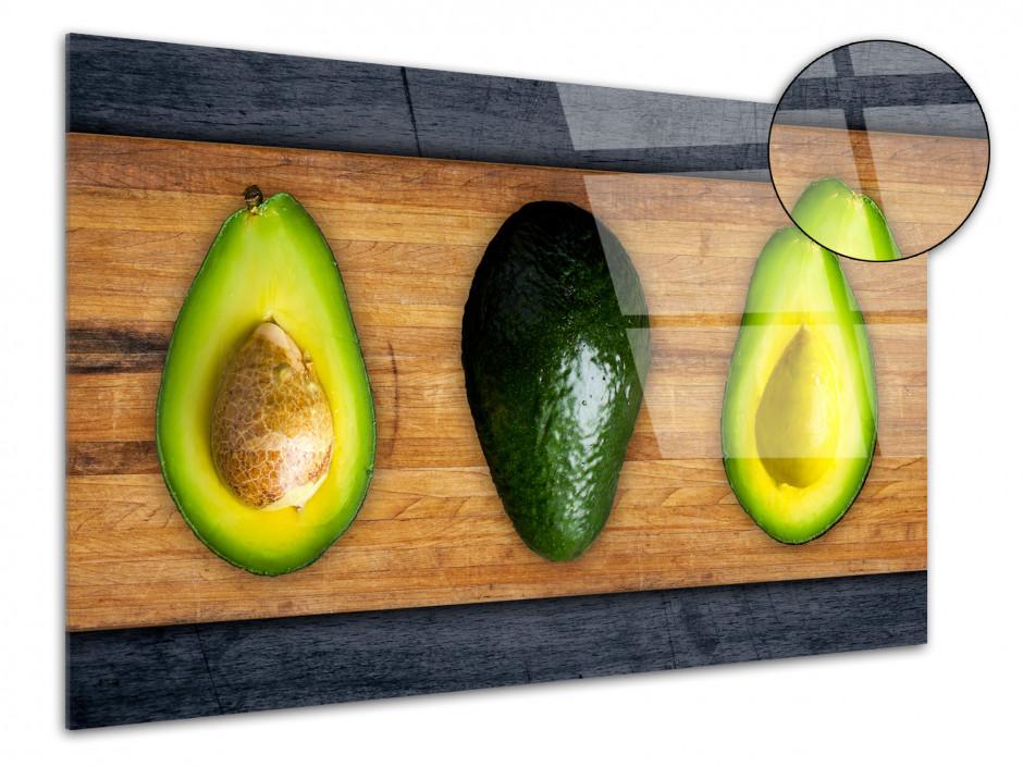 Tableau plexiglas décorative cuisine Avocat