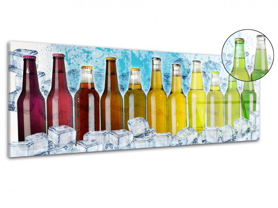 Tableau plexiglas deco cuisne bouteille colorées