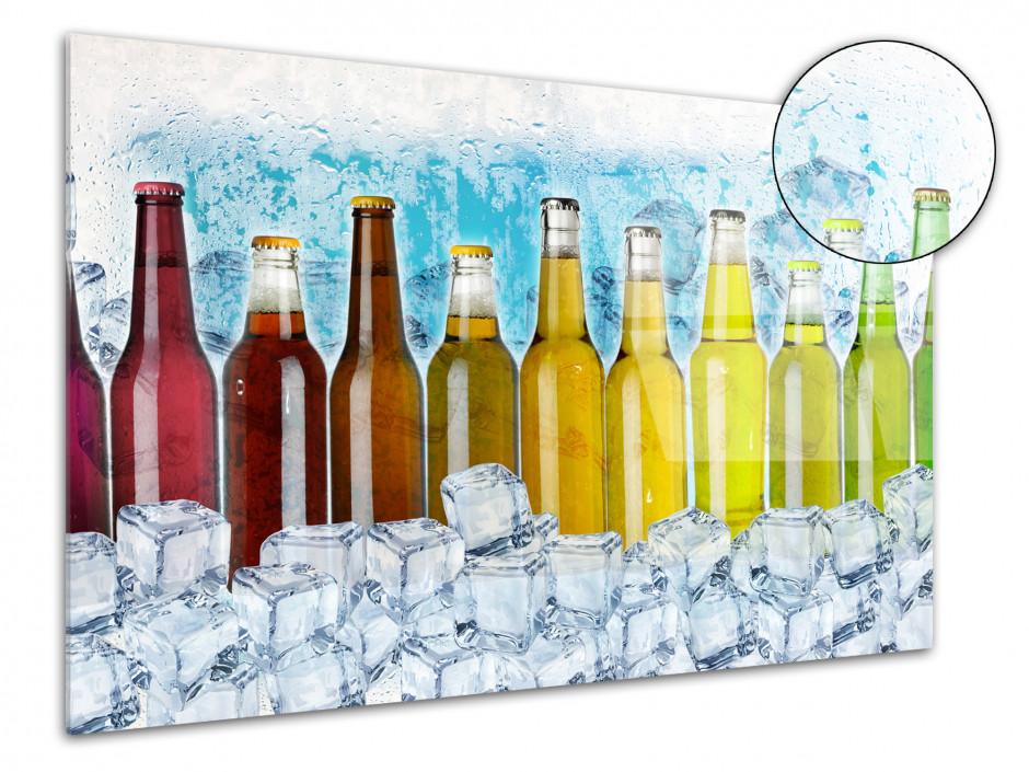 Cadre plexiglas déco moderne Les bouteilles de soda
