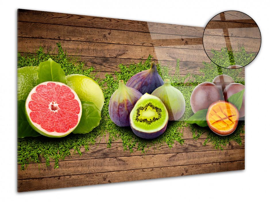 Cadre plexiglas décoratif pour cuisine Les fruits