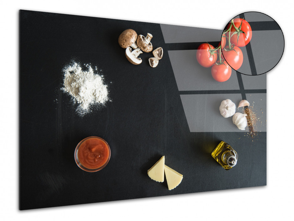 Tableau plexiglas deco cuisine Ingredients Pizza