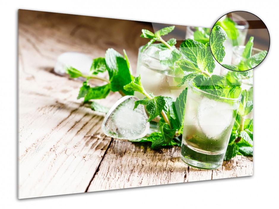 Tableau plexiglas décoratif Les verres de Mojito