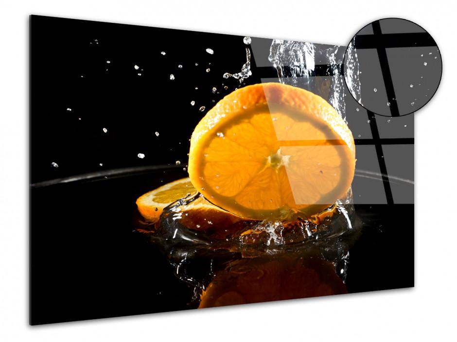 Cadre plexiglas moderne Tranche d'Orange