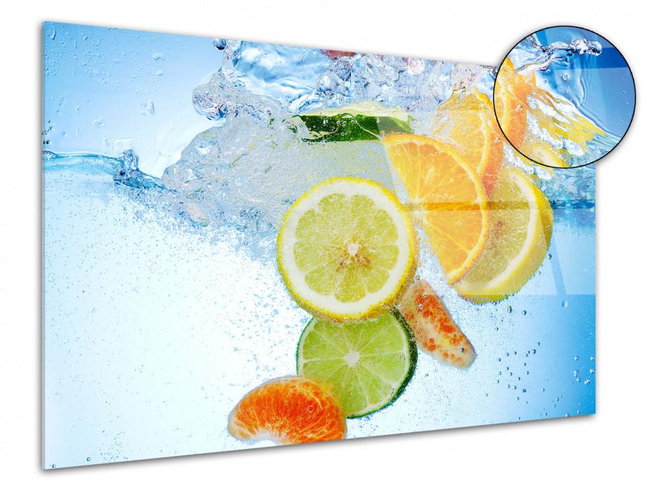 Cadre plexiglas déco Bain de Fruits
