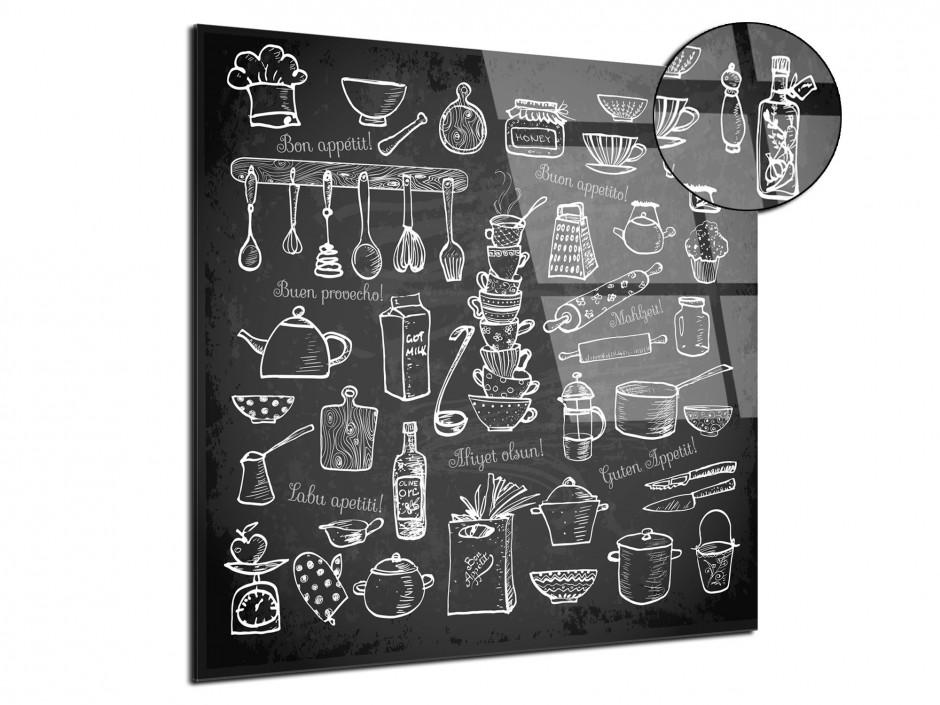Cadre plexiglas déco cuisine Bon Appétit