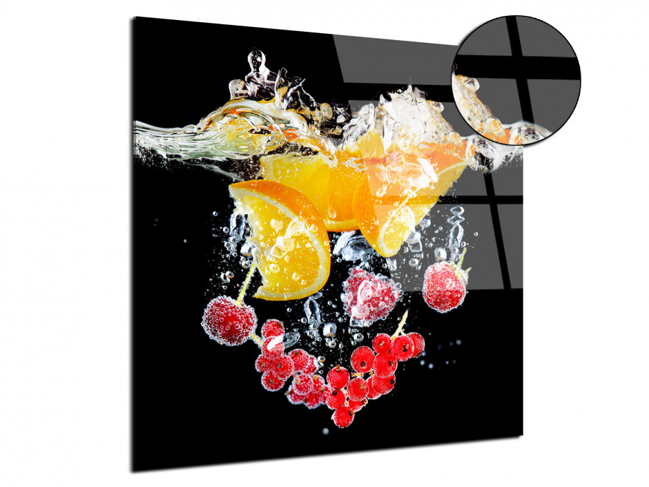 Cadre plexiglas Bain d'orange et Fruits rouges