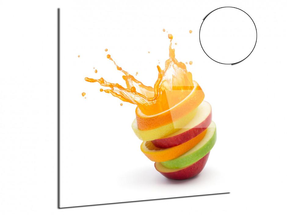 Tableau plexiglas déco Tranche de fruits