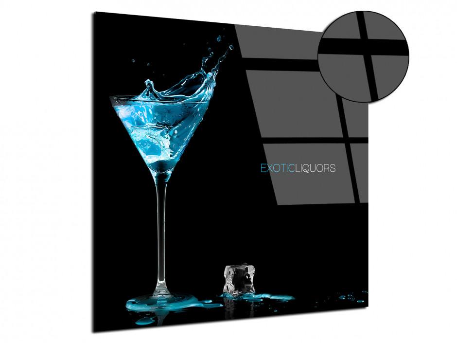 Tableau plexiglas déco Liqueur Turquoise