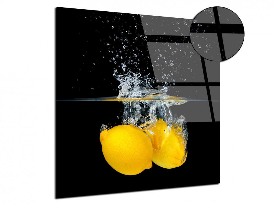 Tableau plexiglas déco Les citrons Jaunes