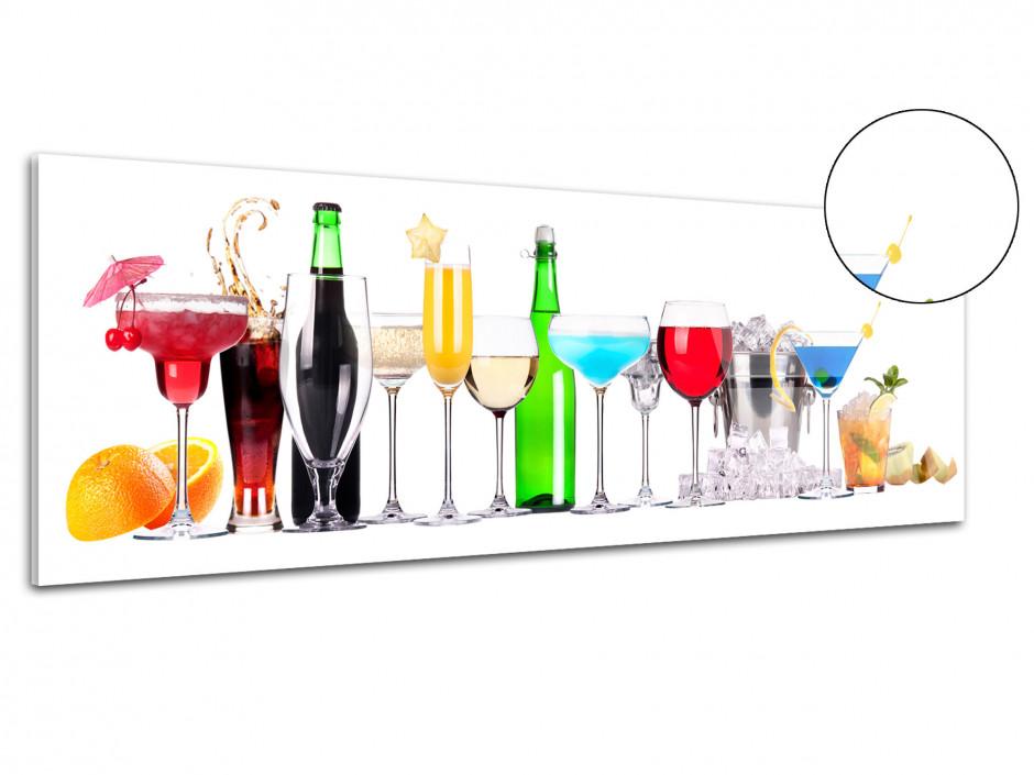 Tableau plexiglas cuisine panoramique Cocktail