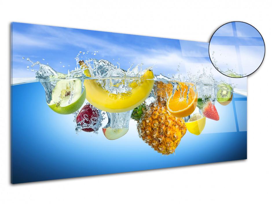Tableau plexiglas décoration cuisine Les Fruits dans l'eau