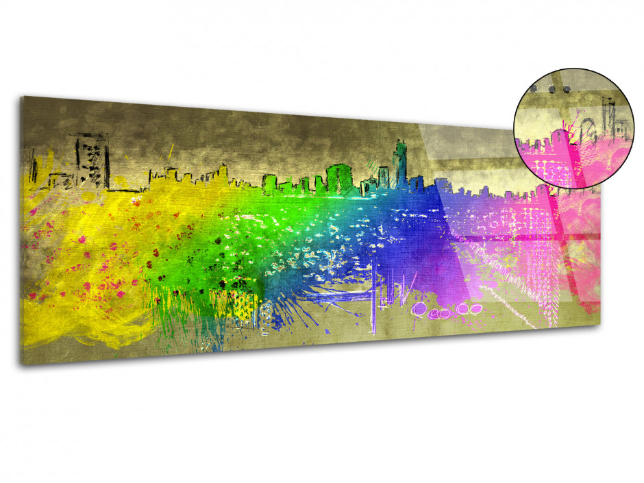 Tableau plexiglas decoratif City Color
