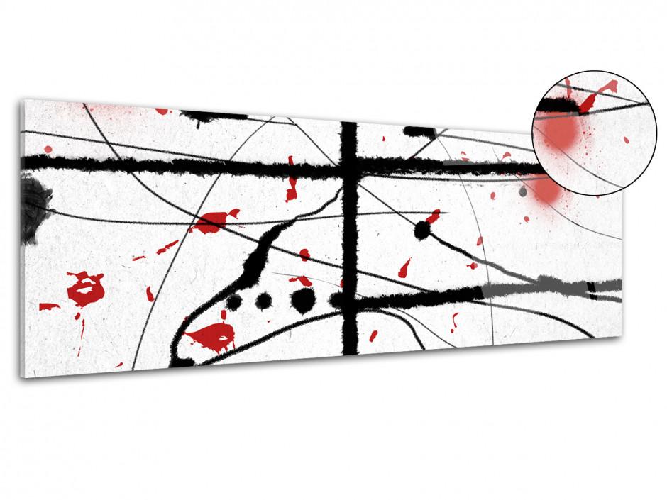 Tableau plexiglas design panoramique Les lignes