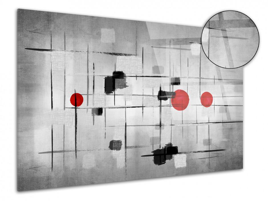Tableau plexiglas moderne Noir et Blanc