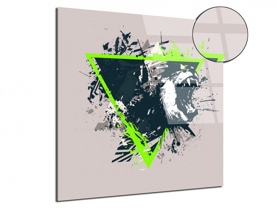 Tableau plexiglas deco design Tête de Tigre