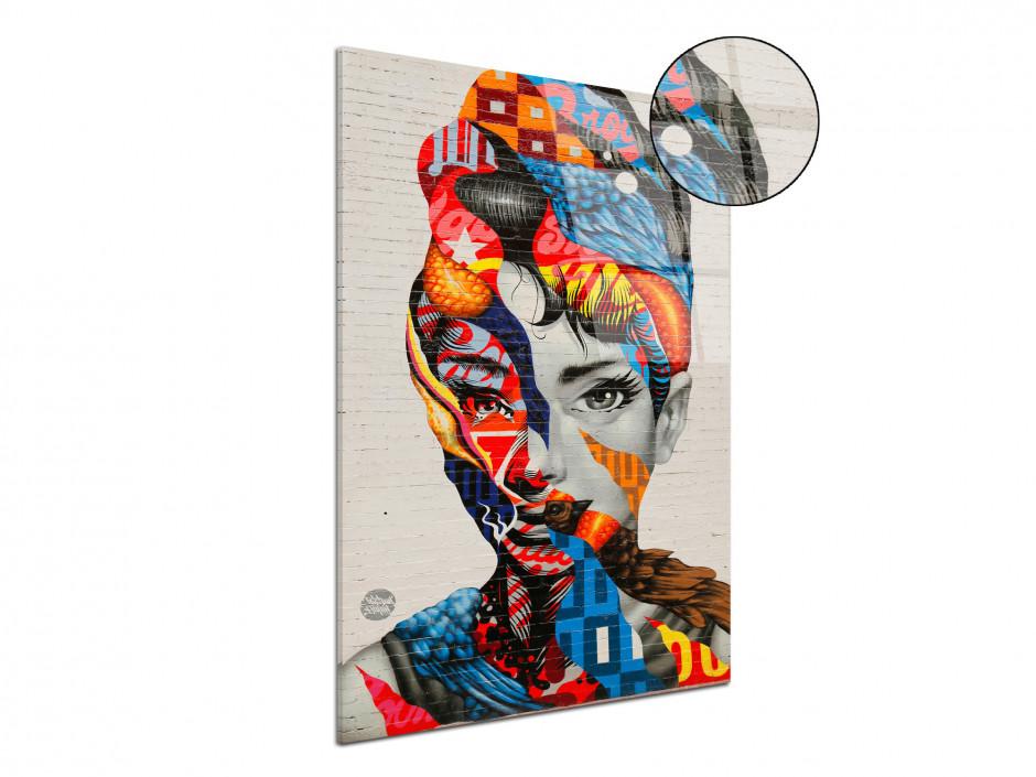 Tableau plexiglas deco moderne design visage femme