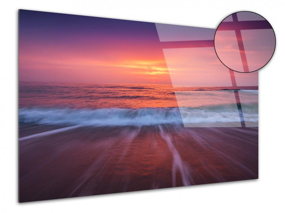 Tableau plexiglas SUNSET SUR LA PLAGE
