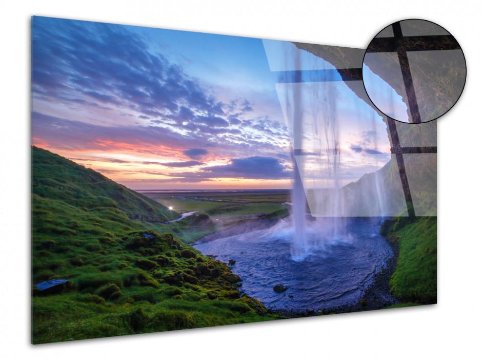 Tableau plexiglas Chute de Seljalandsfoss