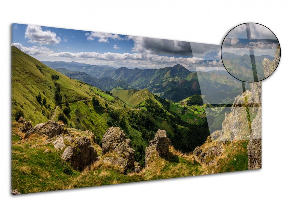 Tableau plexiglas panorama Vallée de Baïgorry