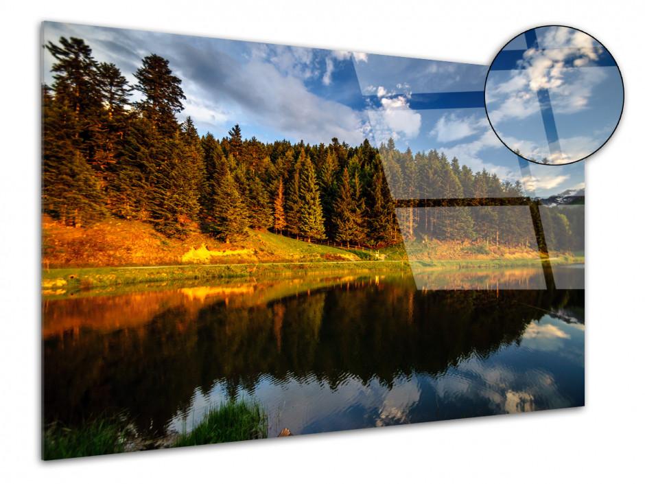 Tableau plexiglas photo REFLET SUR LE LAC DE PAYOLLE