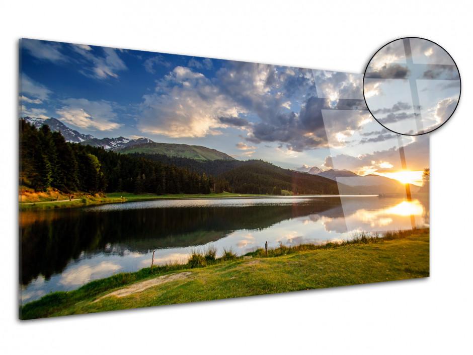 Tableau plexiglas panoramique sur le LAC DE PAYOLLE