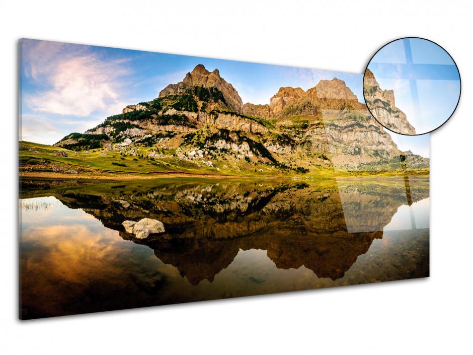 Tableau plexiglas panoramique LAC DE PIEDRAFITA