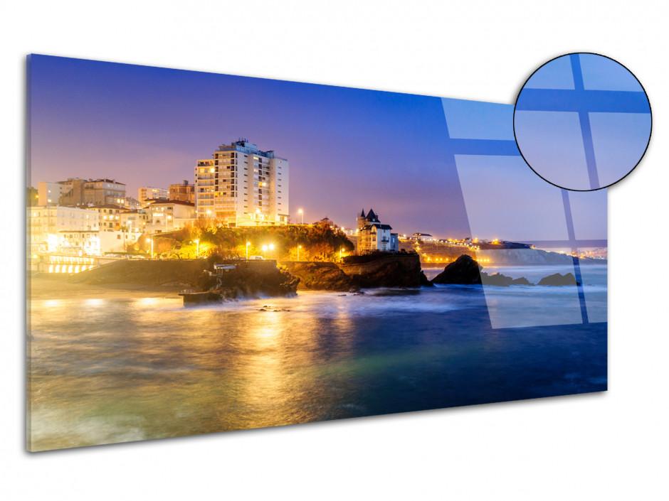 Tableau plexiglas panoramique PLAGE DE BIARRITZ