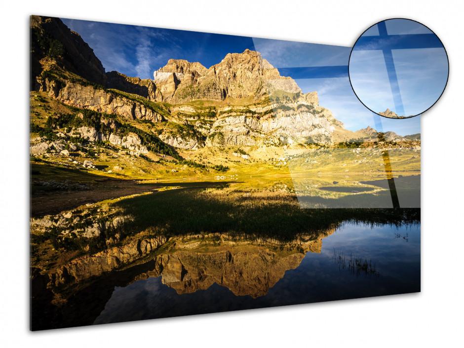 Tableau plexiglas paysage LAC DE PIEDRAFITA