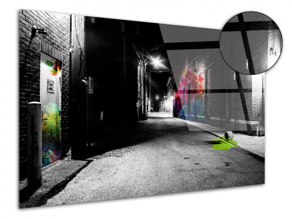 Tableau plexiglas decoratif design Ruelle de nuit