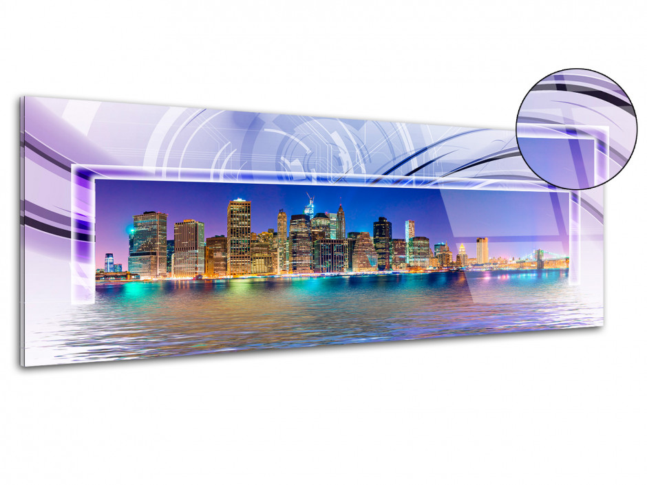 Tableau plexiglas design panoramique New York